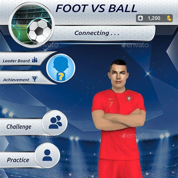 Soccer Mobile Game GUI
