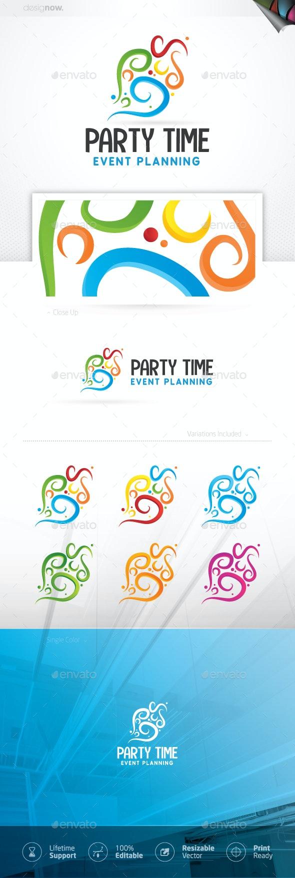 Party Time Logo - Company Logo Templates