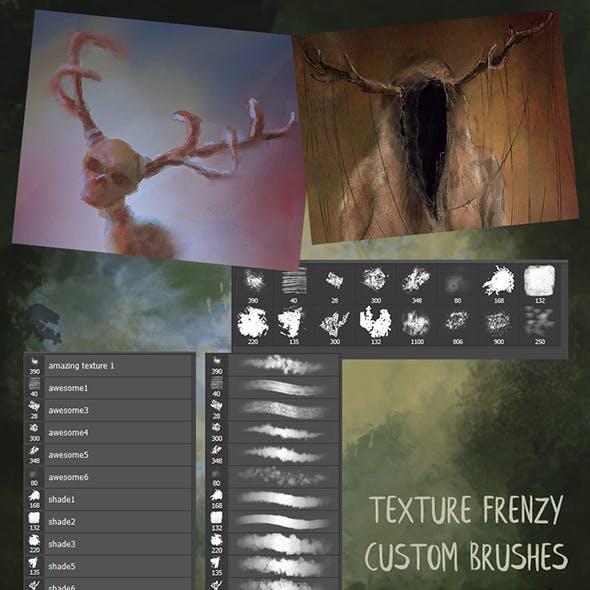 Texture Frenzy Photoshop Brushes