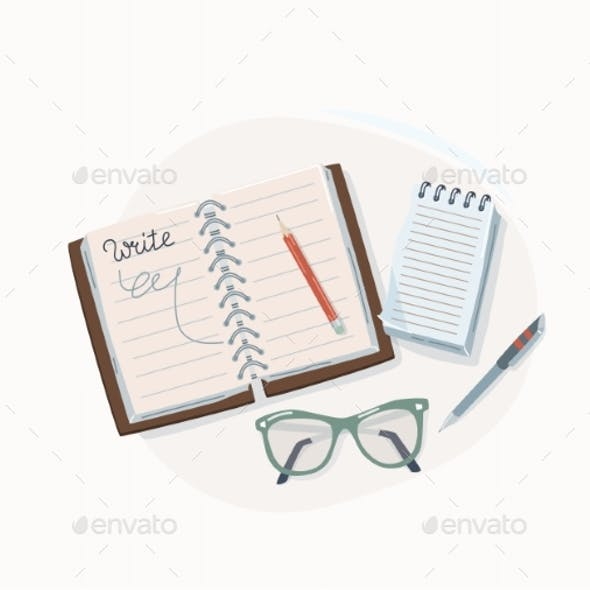 Write Concept Vector Illustration