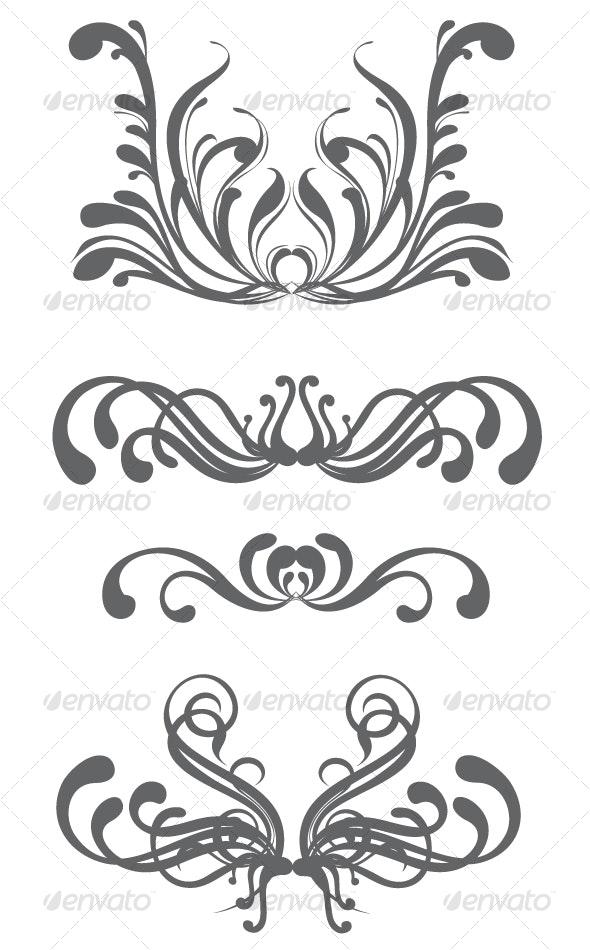 Floral design elements - Decorative Vectors