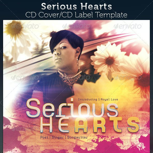 Serious Hearts CD Cover Artwork Template
