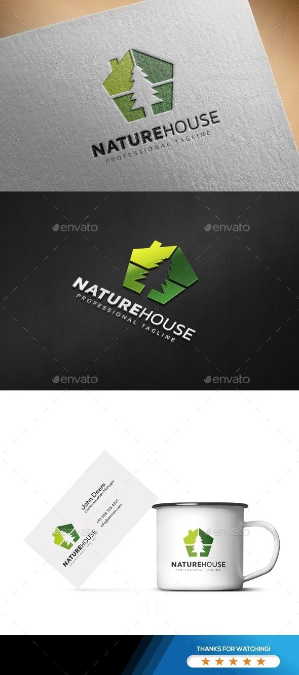 Nature House Logo - Buildings Logo Templates