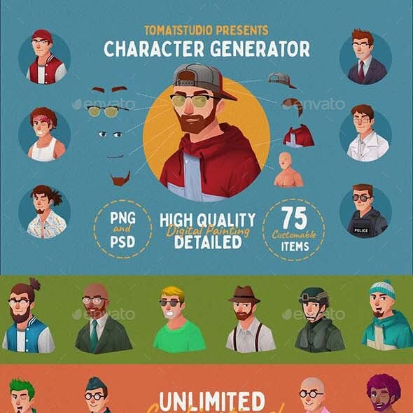 Character Potrait Generator