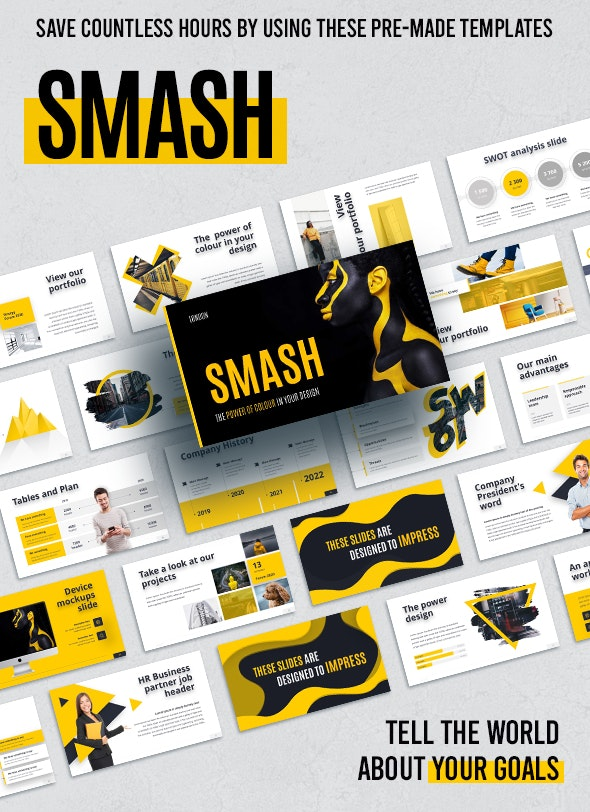 Smash Animated - Creative Keynote Templates