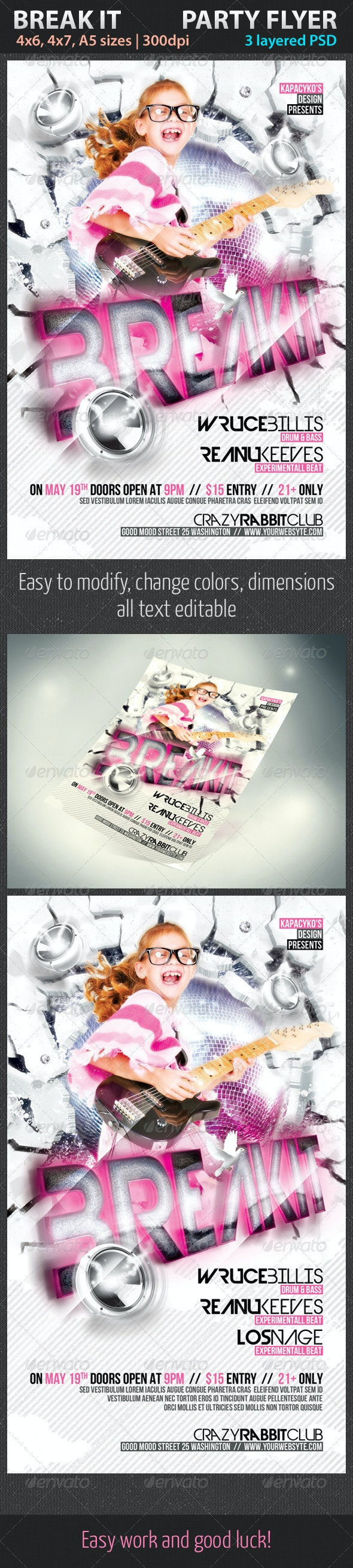 Break it Party Flyer - Clubs & Parties Events