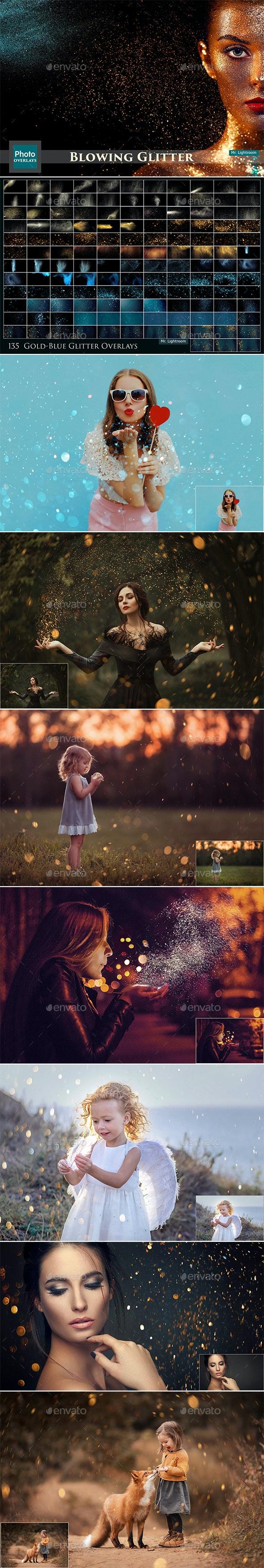 135 Glitter Overlays - Artistic Photo Templates