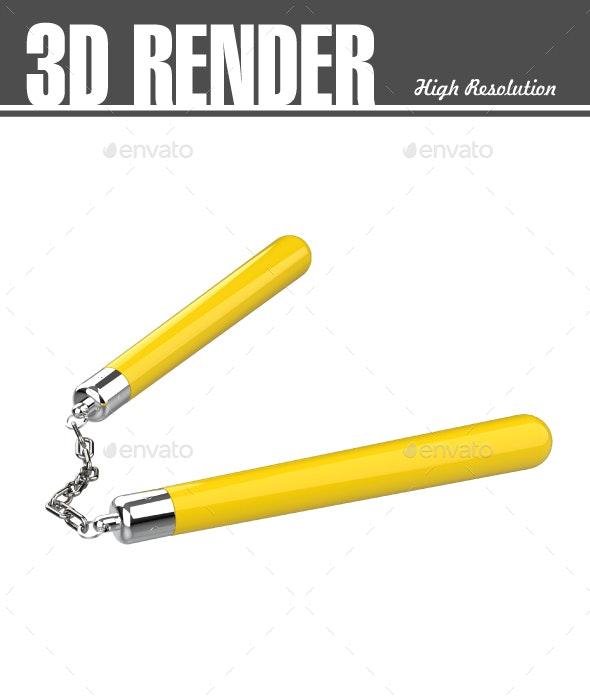 Nunchuck - Miscellaneous 3D Renders