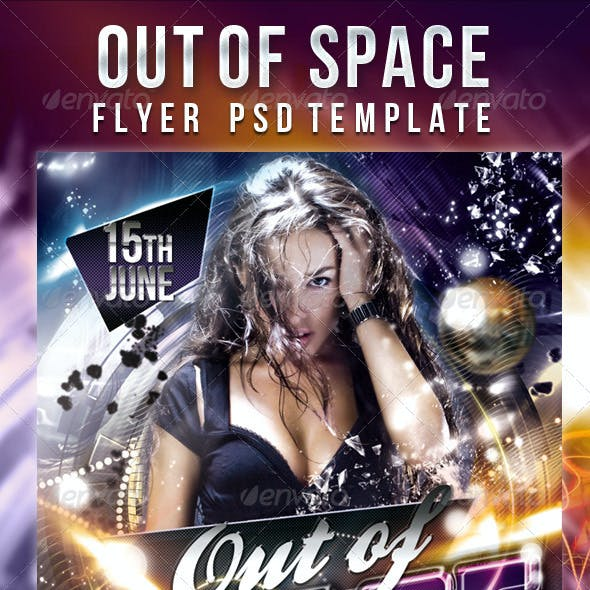 Out of Space  - Flyer PSD Template