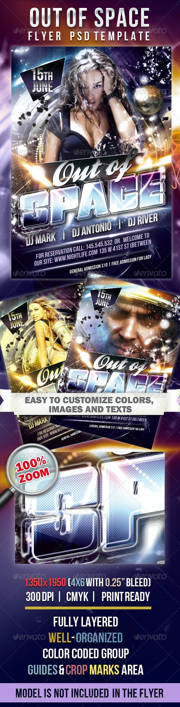 Out of Space  - Flyer PSD Template - Flyers Print Templates