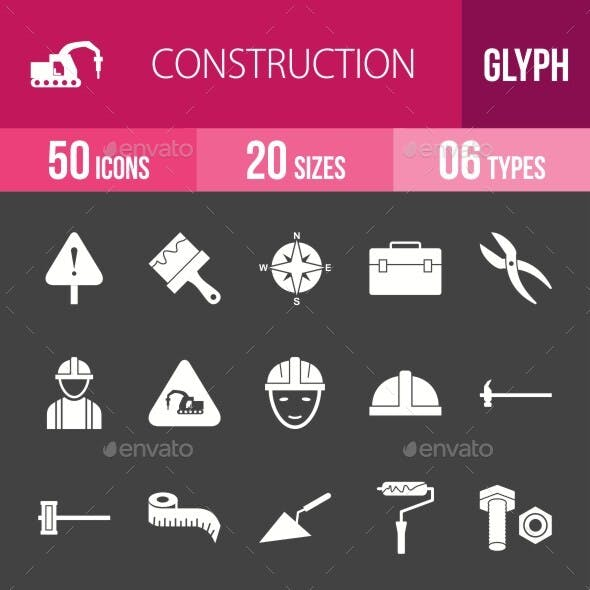 Construction Glyph Inverted Icons Season II
