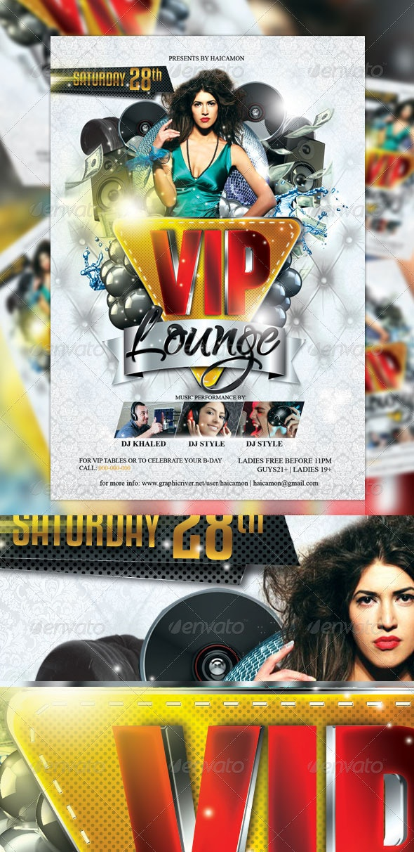 VIP Lounge Party Flyer - Events Flyers