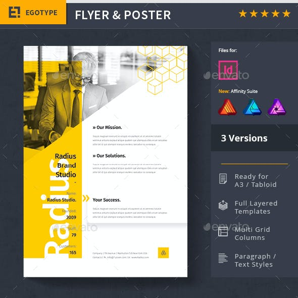 Advertising Poster and Flyer Set