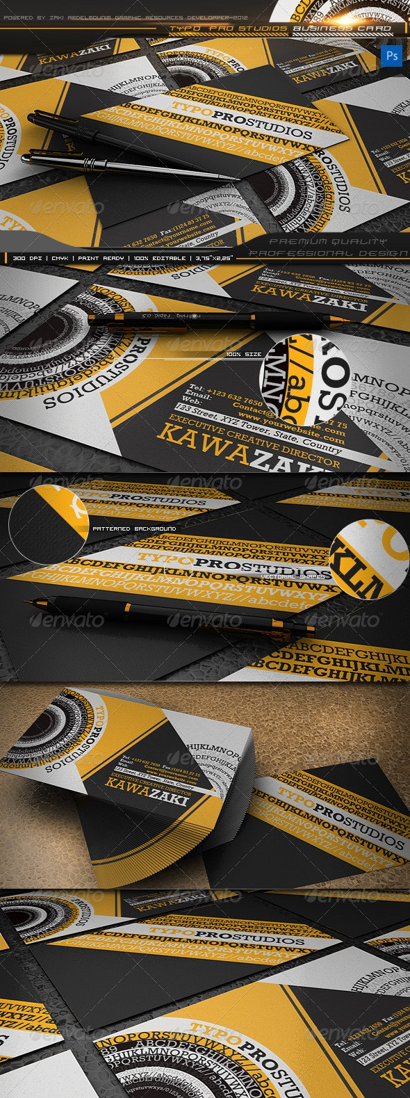 Typo pro studios business card - Creative Business Cards