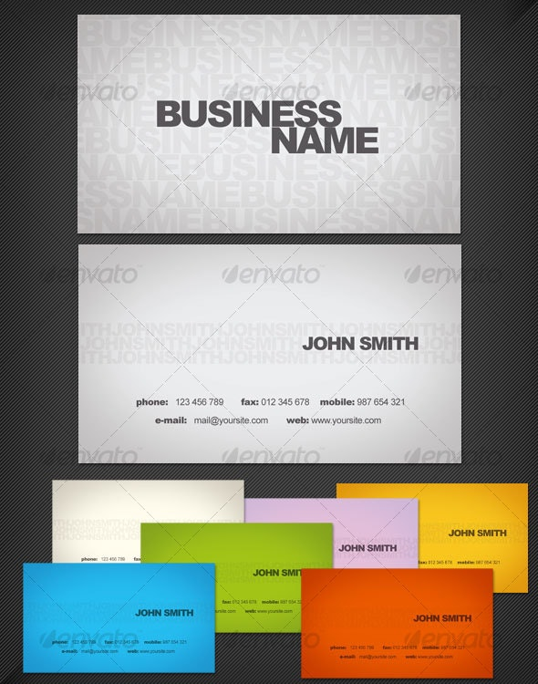 Type-o-Card - Business Card Template - Corporate Business Cards