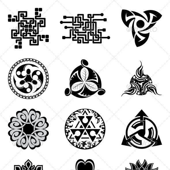 Black Geometric Elements for Design