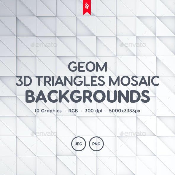 Geom - 3D Triangles Mosaic Background Set