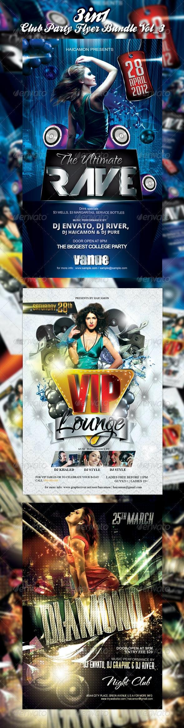 Club/Event Party Flyer Bundle Vol_3 - Events Flyers