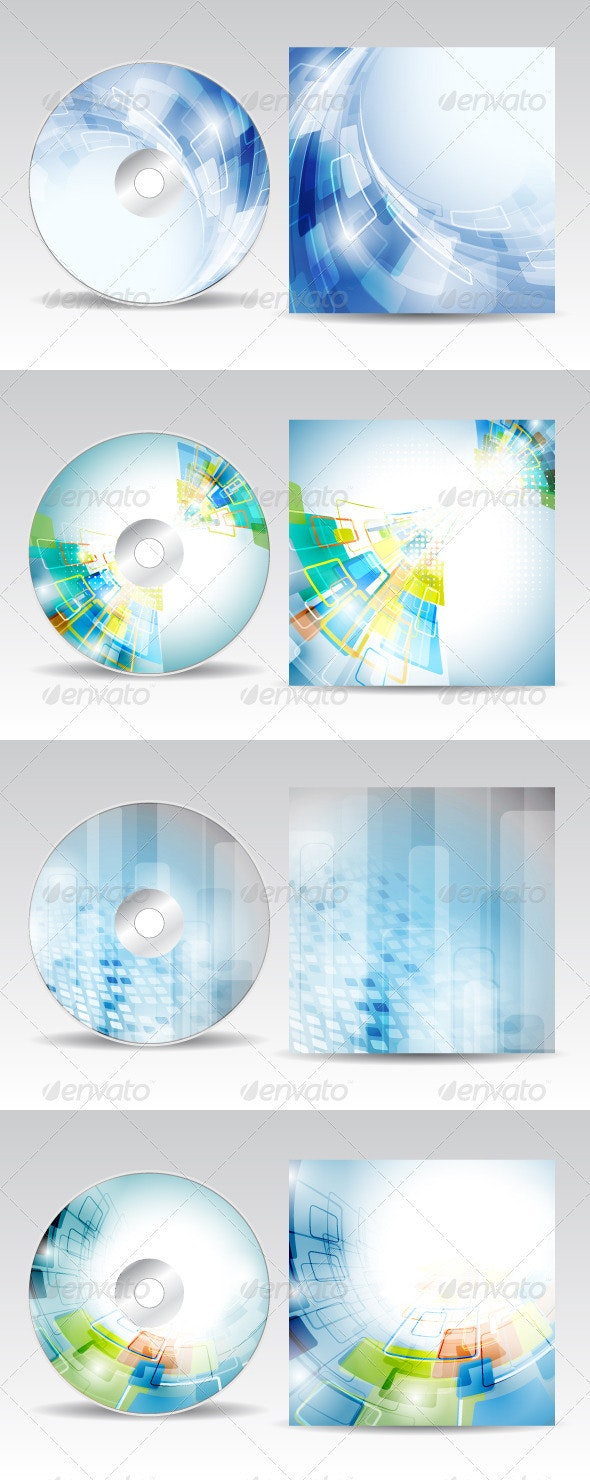 CD cover design pack 2 - Backgrounds Business