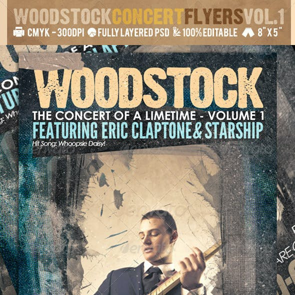 Woodstock PSD Flyer Templates Vol-1
