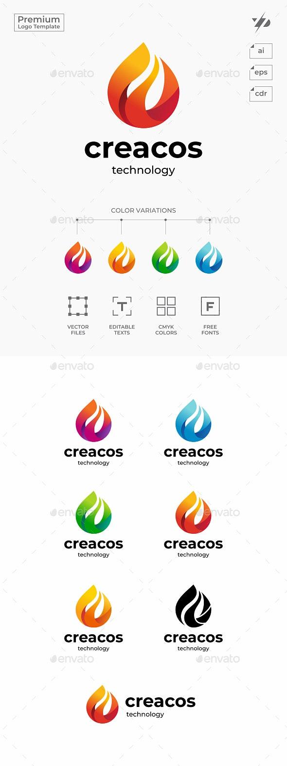 Flame Drop - Abstract Logo Templates