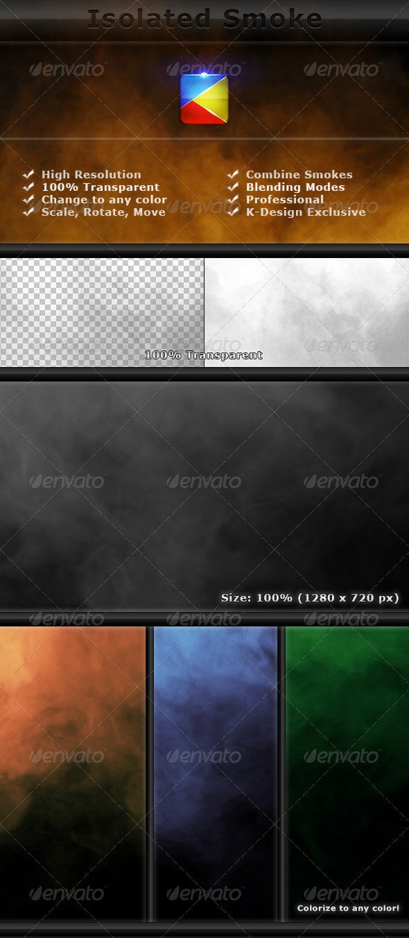 Isolated Smoke FX Elements - 2 - Miscellaneous Isolated Objects