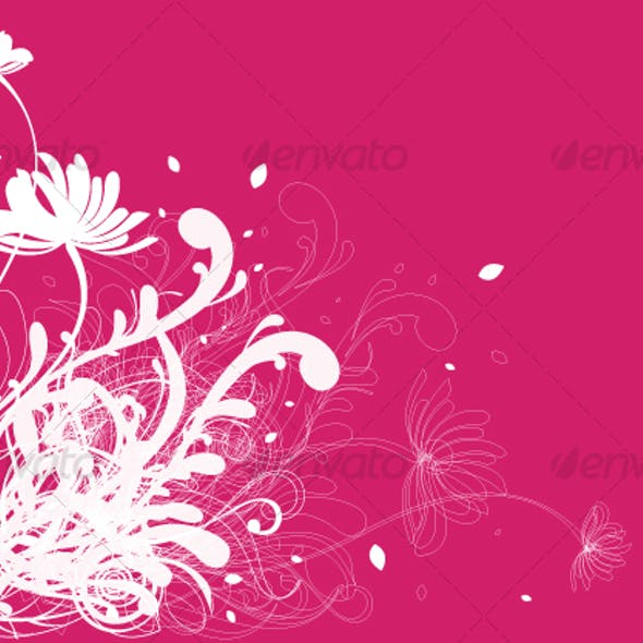 Floral background design in vibrant colorful shade