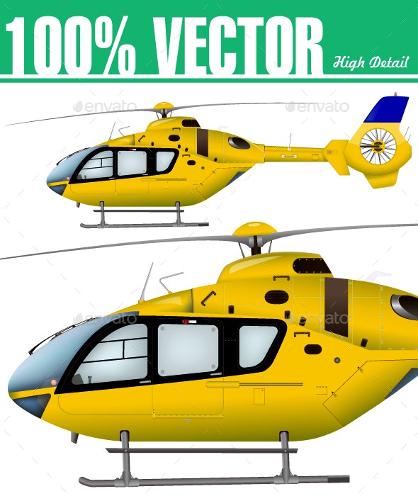 Helicopter - Man-made Objects Objects