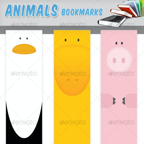 Animals Bookmarks x6, very nice and cute design!