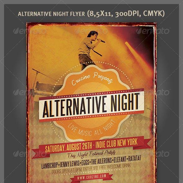 Alternative Night Music Flyer