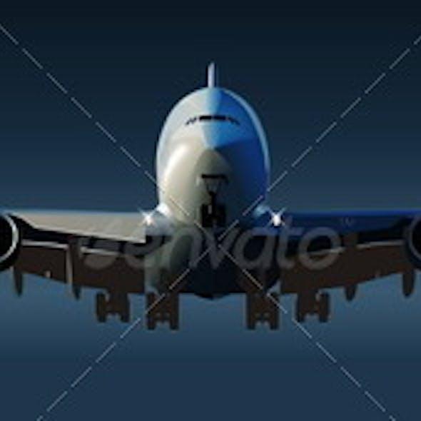 Back Airbus takeoff