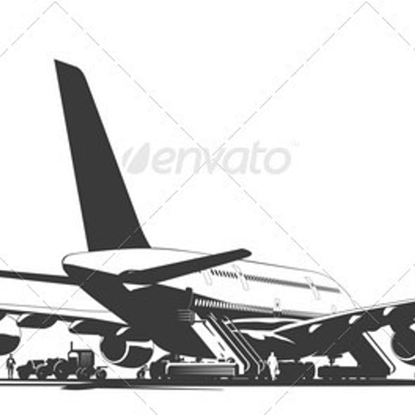 Airliner on Aerodrome