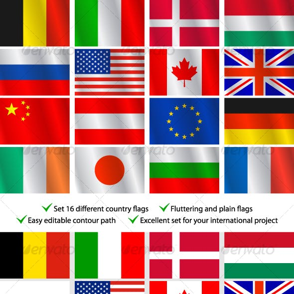 Country Flag Graphics, Designs & Templates from GraphicRiver
