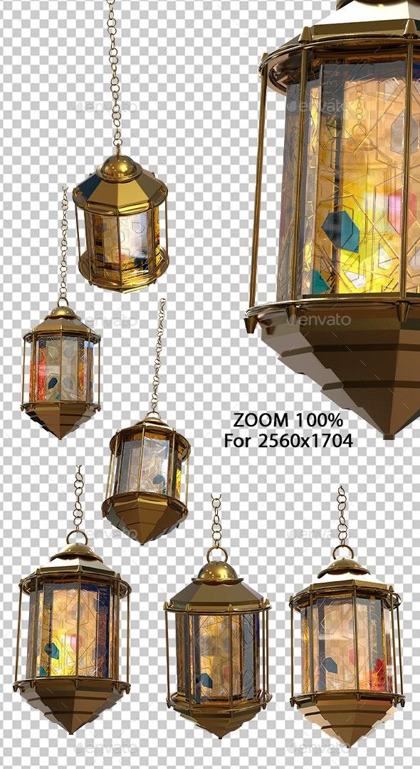 Golden Ramadan Lantern 3D Renders - Objects 3D Renders