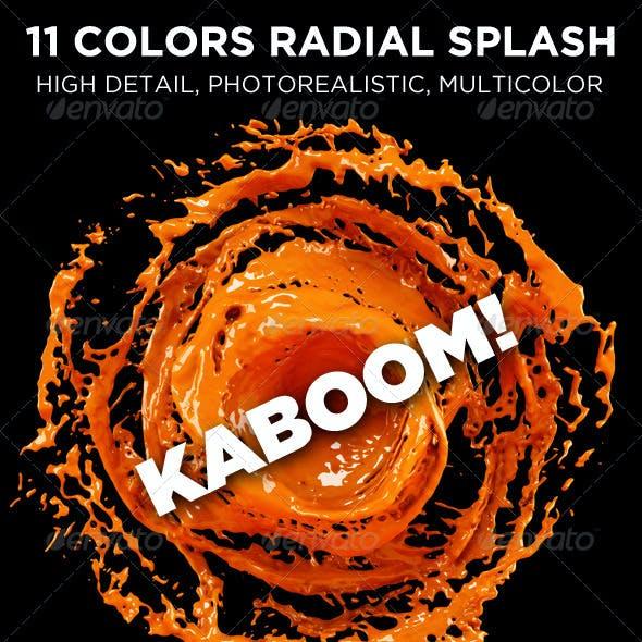 11 Colors Radial Splash