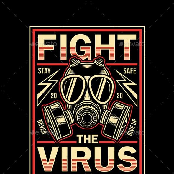 Vintage Corona Virus Graphic T-Shirt