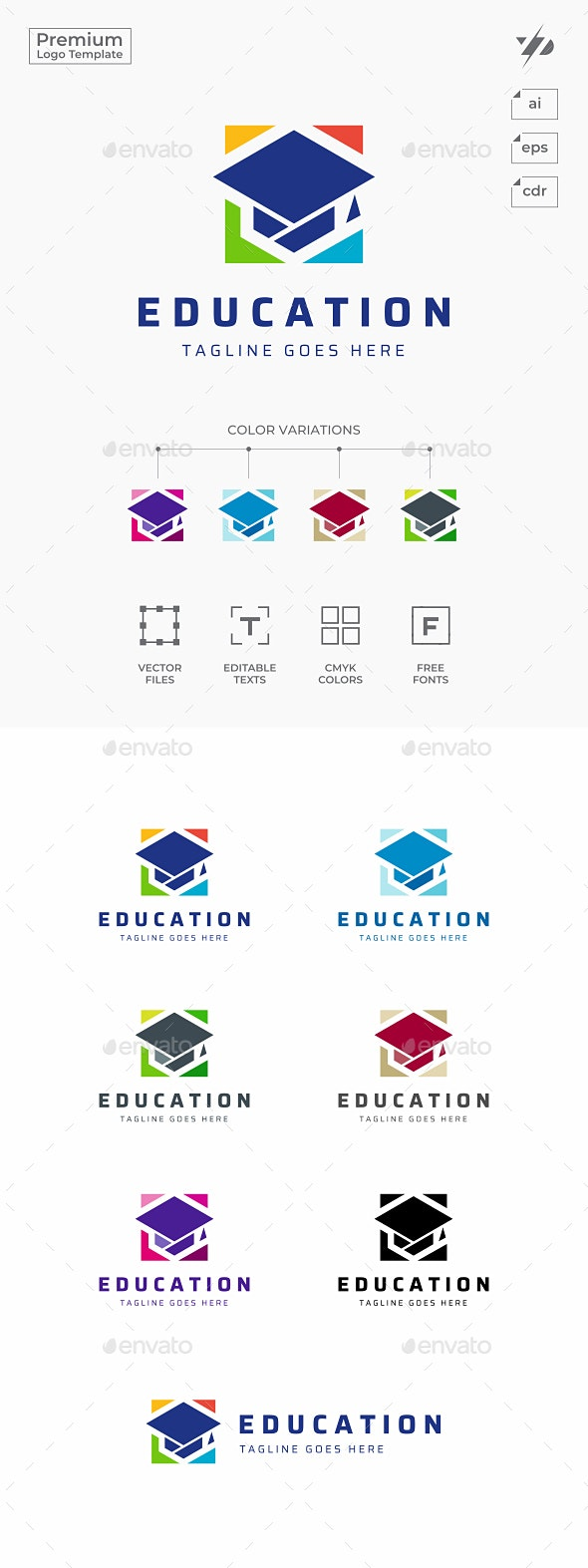 College Education - College Logo Templates