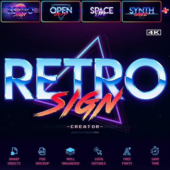 80's Retro Sign Creator