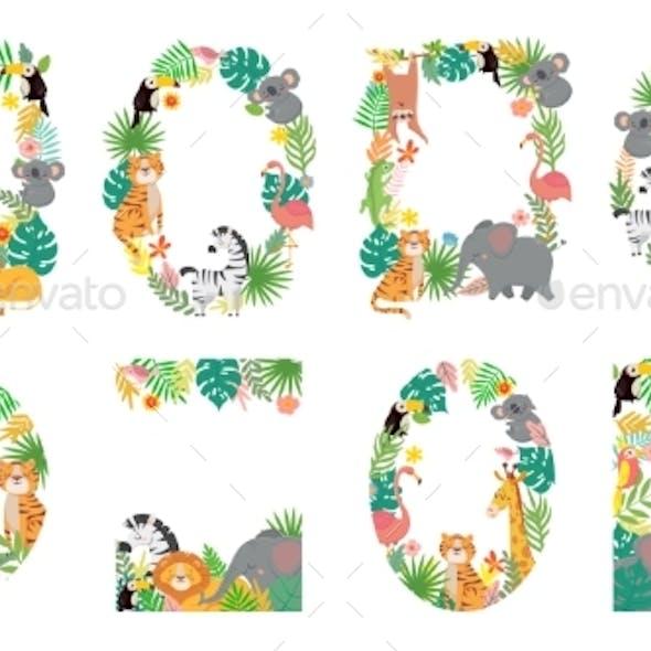 Cartoon Animals Frame