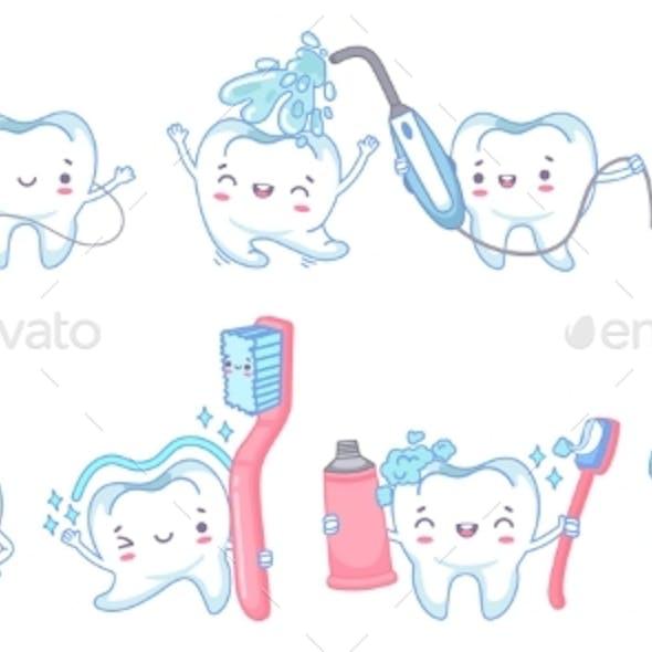 Cartoon Dental Care