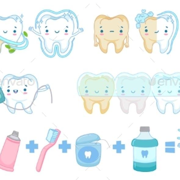 Cartoon Teeth Whitening