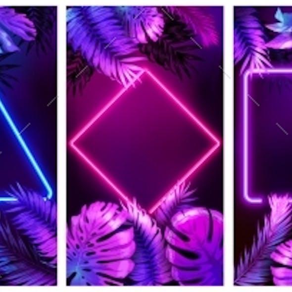 Tropical Neon Frames