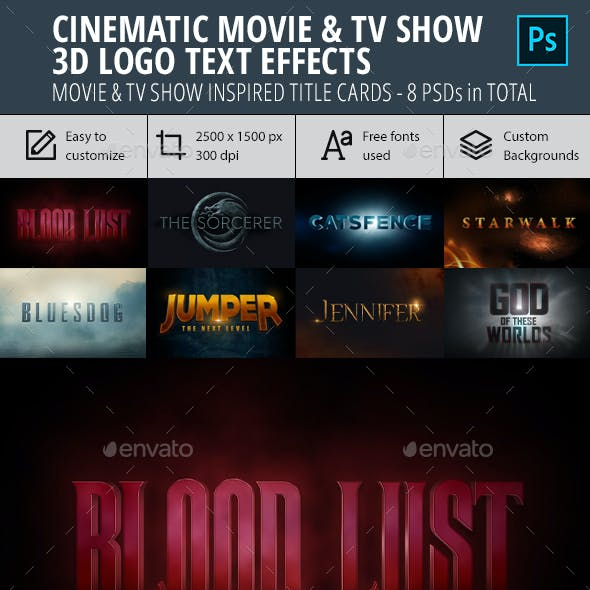 Cinematic Movie & TV Show Logo 3D Text Effect