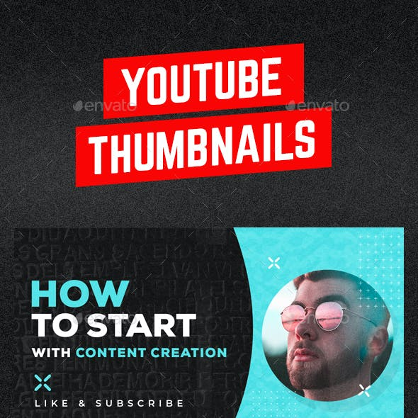 Youtube Thumbnail Templates - 6 in 1