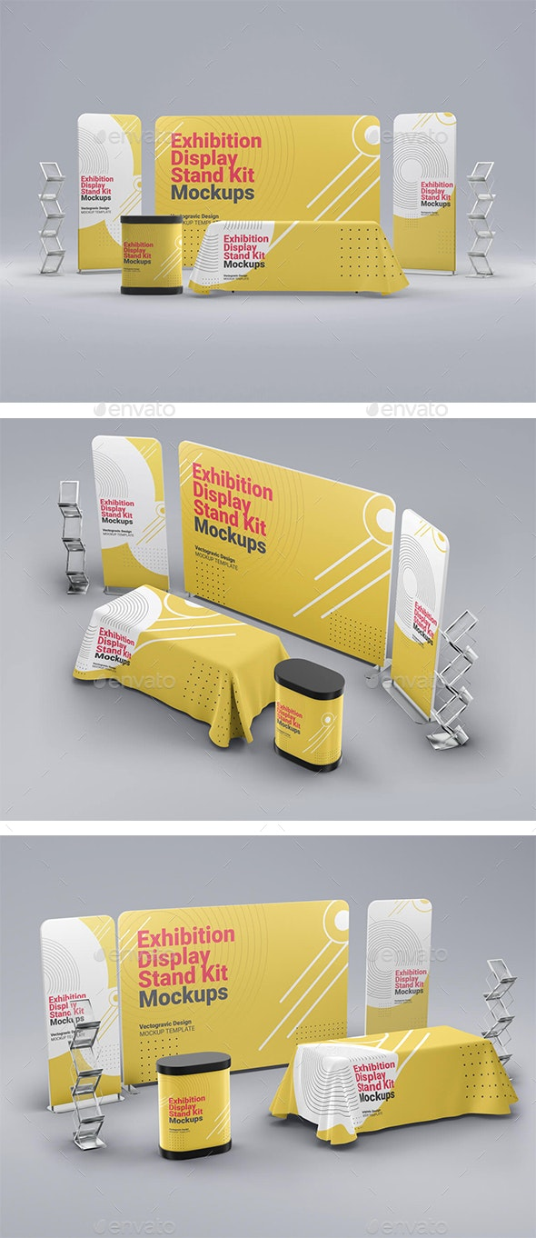 Exhibition Display Stand Kit Mockups - Signage Print