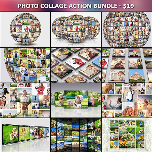 Photo Collage Action Bundle