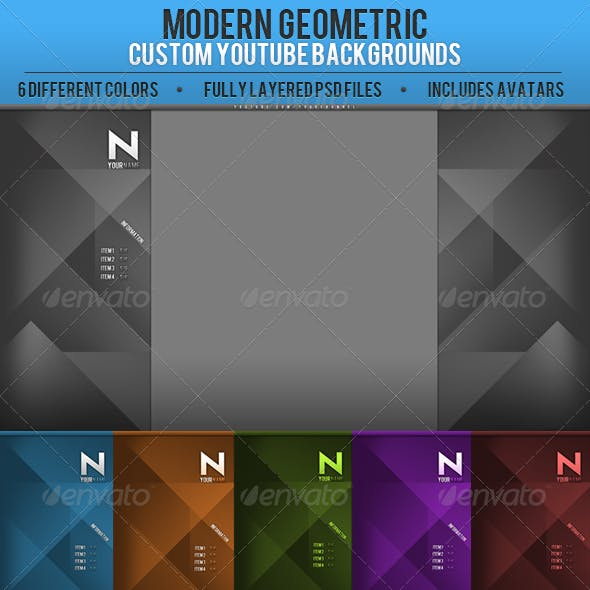 Geometric YouTube Channel backgrounds