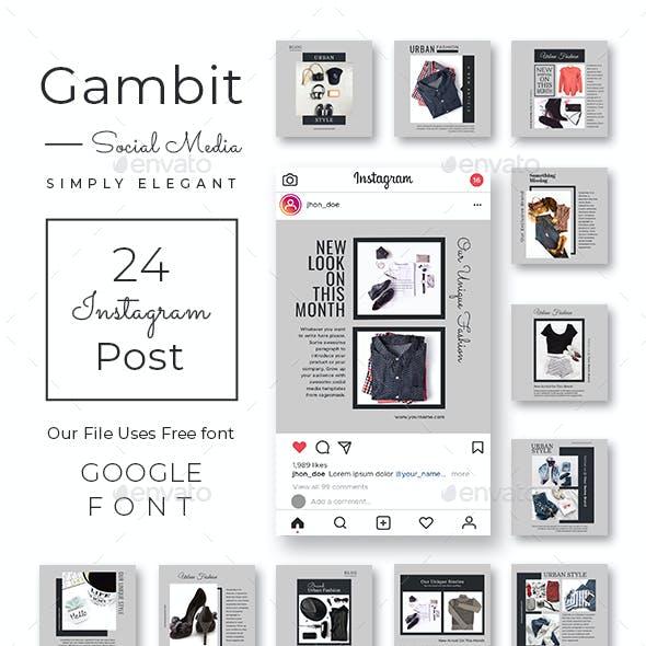 Gambit Instagram Post