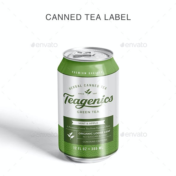 Canned Tea Label