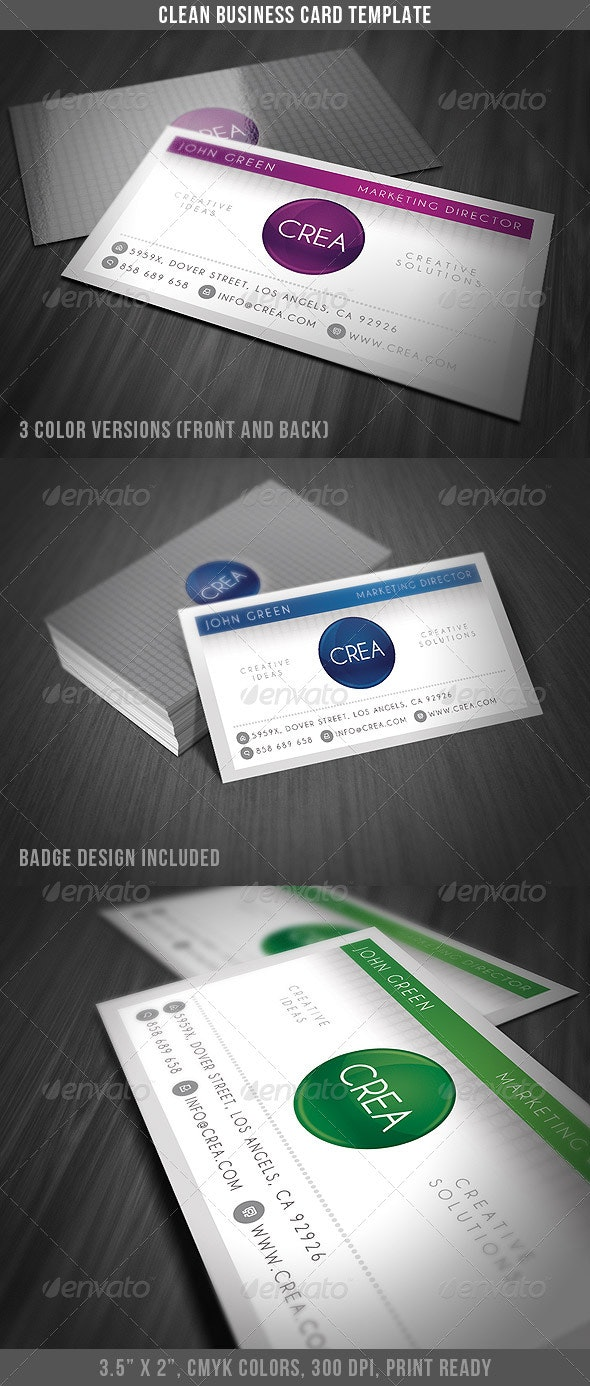 Clean Style Business Card - Business Cards Print Templates